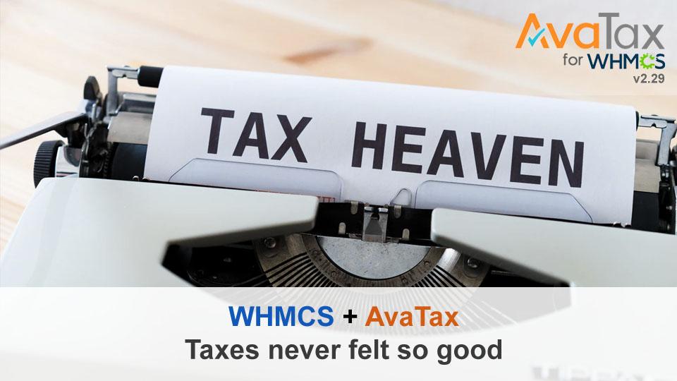 AvaTax for WHMCS Module Release v2.29